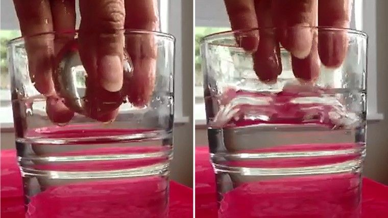 Matching the refractive index of a ball with that of water makes it seem invisible when dropped into a glass containing water