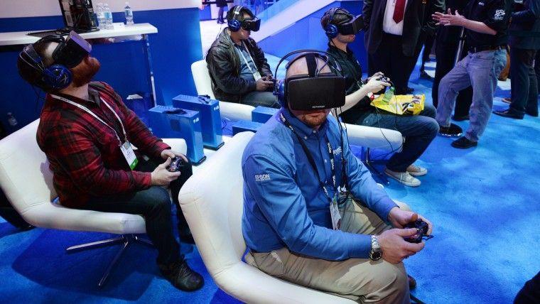The latest Oculus Rift HD Virtual Reality head-mounted displays