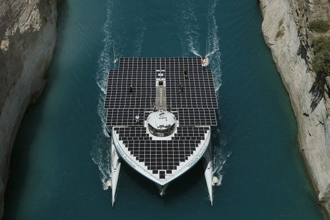 "The world's largest solar-powered boat, ""MS Turanor PlanetSolar"""