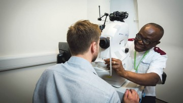 DeepMind is work­ing with Moorfields Eye Hospital to de­velop an AI system to spot sight-threat­ening conditions in OCT scans