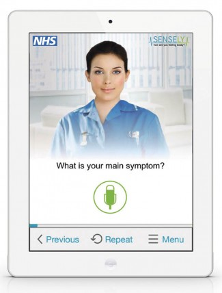 Olivia, developed be Sensely, is able to schedule GP appointments, check symptoms and give advice on treatment