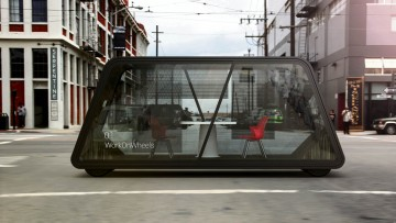 Mobile working space concept by IDEO