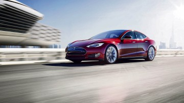 Tesla's Model S all-electric saloon vehicle