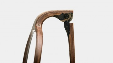 Rolf Spectacles are made from wood right down to the hinges-making each pair unique
