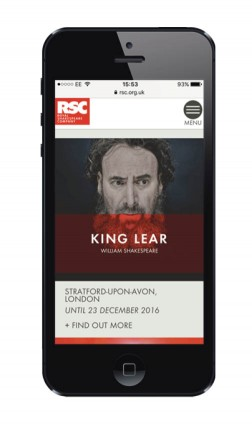 The Royal Shakespeare Company upgraded its website to serve customers with individual content based on past behaviour and individual profiles