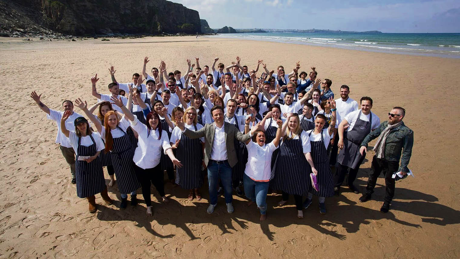 Young British workers could benefit from a fall in overseas competition: Jamie Oliver's Cornish restaurant Fifteen is a social enterprise eatery devoted to training apprentices