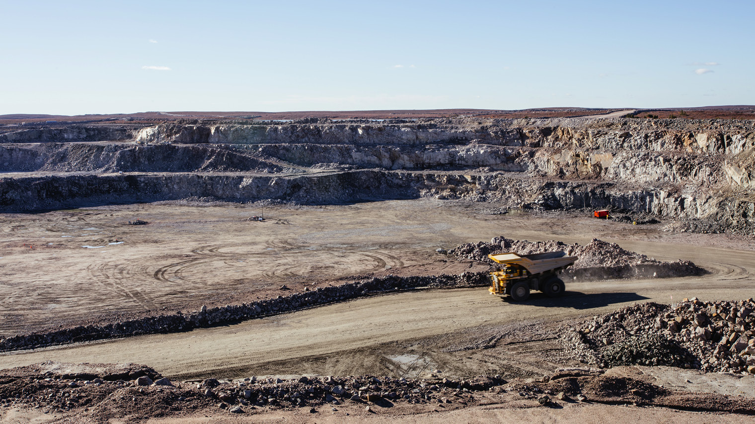 Gahcho Kué is a massive open pit mine, a rare prospect in an industry that has had to dig deep, expensive mines to find diamonds