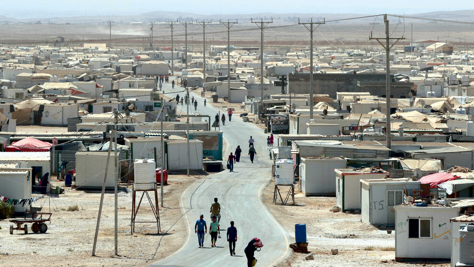 The UN-run Zaatari camp for Syrian refugees, north-east of Amman