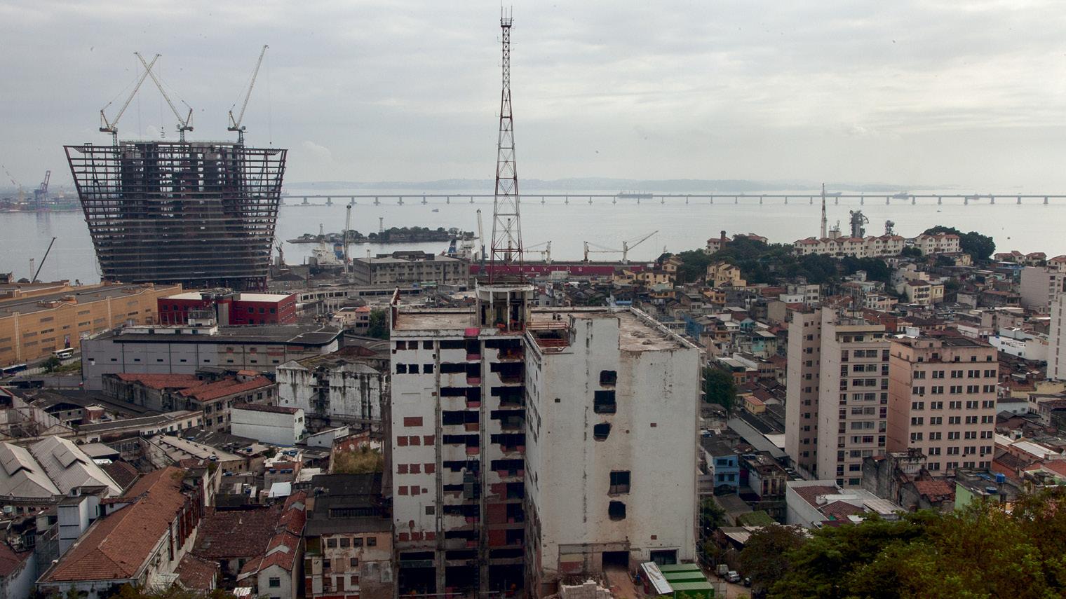 The port area of Rio de Janeiro from the Morro da Providência favela