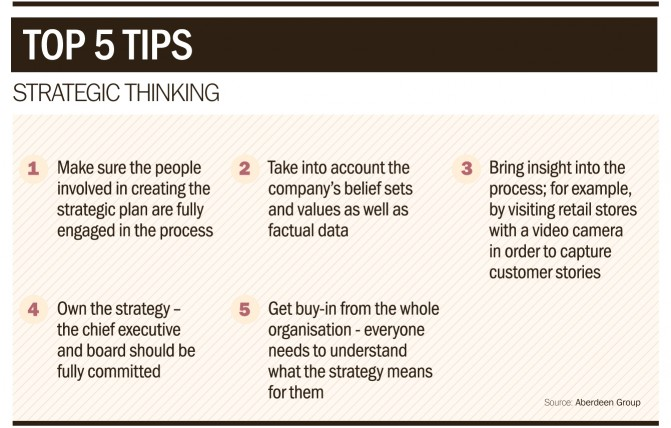 Top 5 tips for strategic thinking