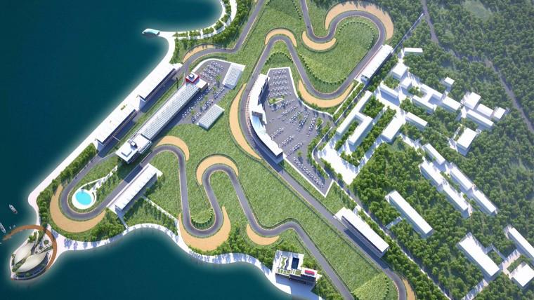 Baku Race track concept in Azerbaijan