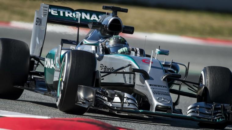Nico Rosbery at Barcelona testing