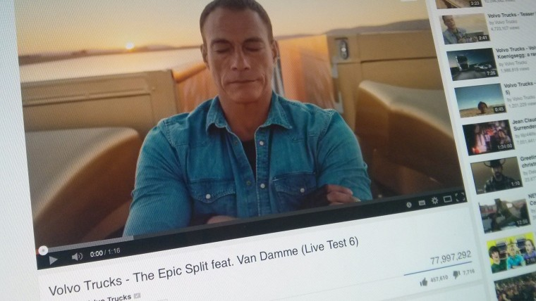 Volvo Trucks had a global smash hit with its 2014 Jean-Claude Van Damme campaign