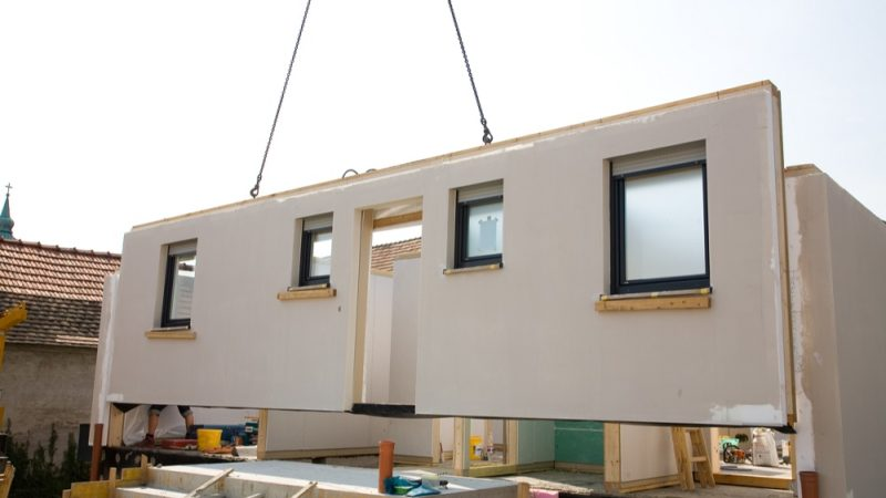 building innovation: modular construction - prefab building being put together