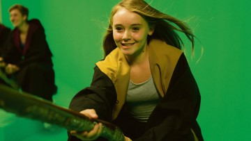 Broomstick green screen experience