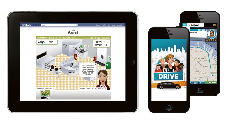 """My Marriott Hotel Facebook game enables prospective staff to feel what it's like to work at a hotel. UberDrive mobile game to engage current and prospective """"driver-partners"""""""
