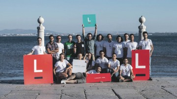 The team at Lisbon-based tech careers marketplace Landing.jobs