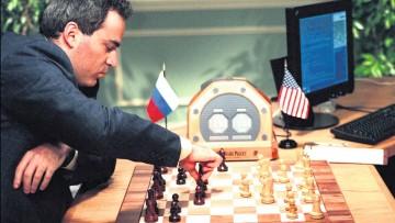 World chess champion Garry Kasparov lost a match against the IBM Deep Blue  computer in 1997
