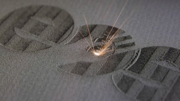 Laser sintering build process in action
