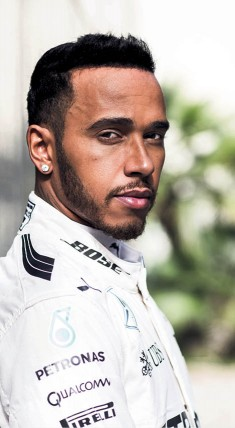 Lewis Hamilton from Mercedes, whose partners include Petronas, Qualcomm, Pirelli and Bose