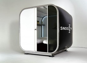 Snoozy, the inflatable pop-up hotel room from Snoozebox, offers premium on-site accommodation at events and festivals