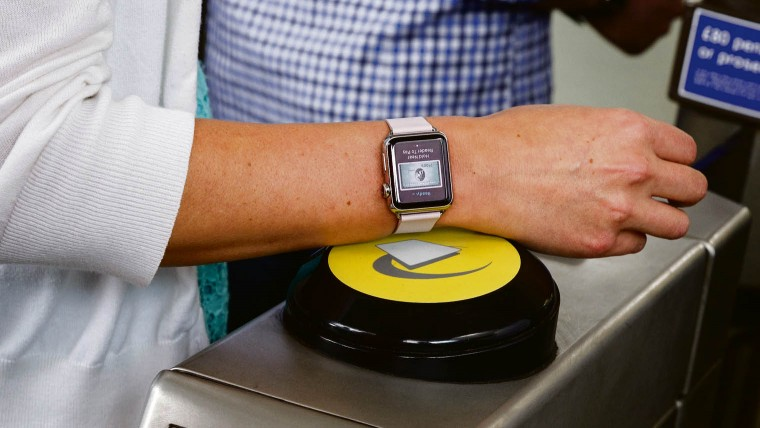 A smartwatch pays for a London Underground journey