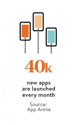 New apps are launched every month