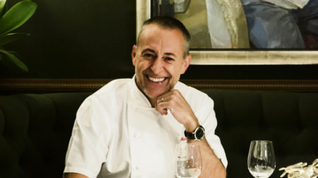 michel-roux-jr-serving-coeur-dartichaux-lucullus-a-le-gavroche-classic-artichoke-mousse-with-black-truffle-foie-gras-and-chicken-3
