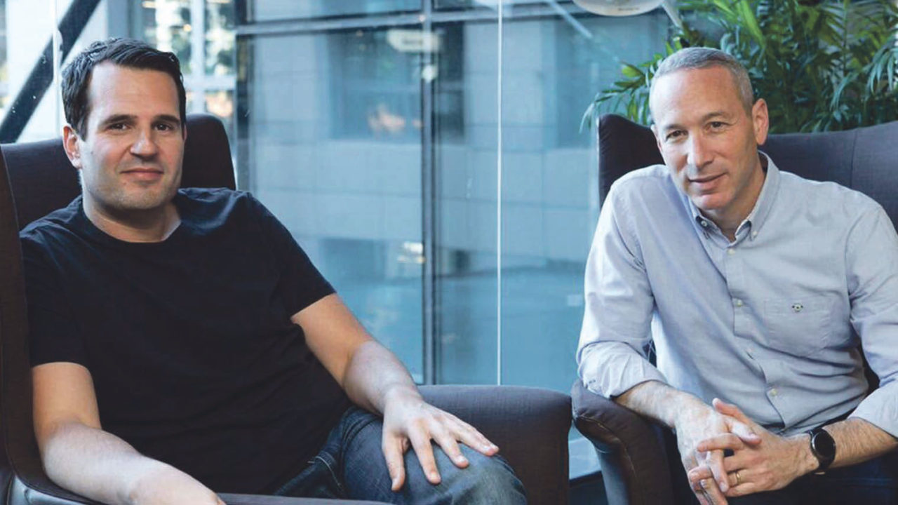 Shai Wininger (left) and Daniel Schreiber, co-founders of Lemonade, the world's first peer-to-peer insurance company