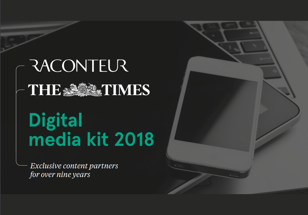 Raconteur Digital Media kit 2018