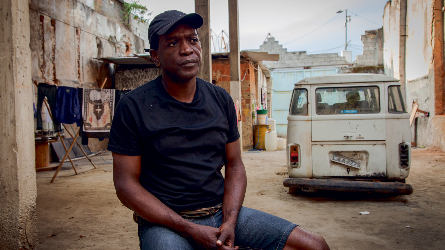 "Roberto Gomes dos Santos, 49, used to live in a squat called ""Quilombo das Guerreiras"" that him and 120 families had occupied for seven years. They were all evicted in 2013 as buildings were cleared for the Trump Towers Rio development"