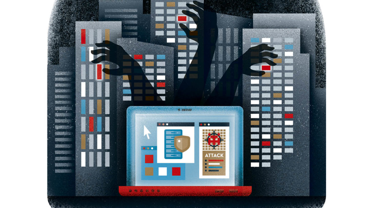 Cover illustration for Cyber Security Special Report