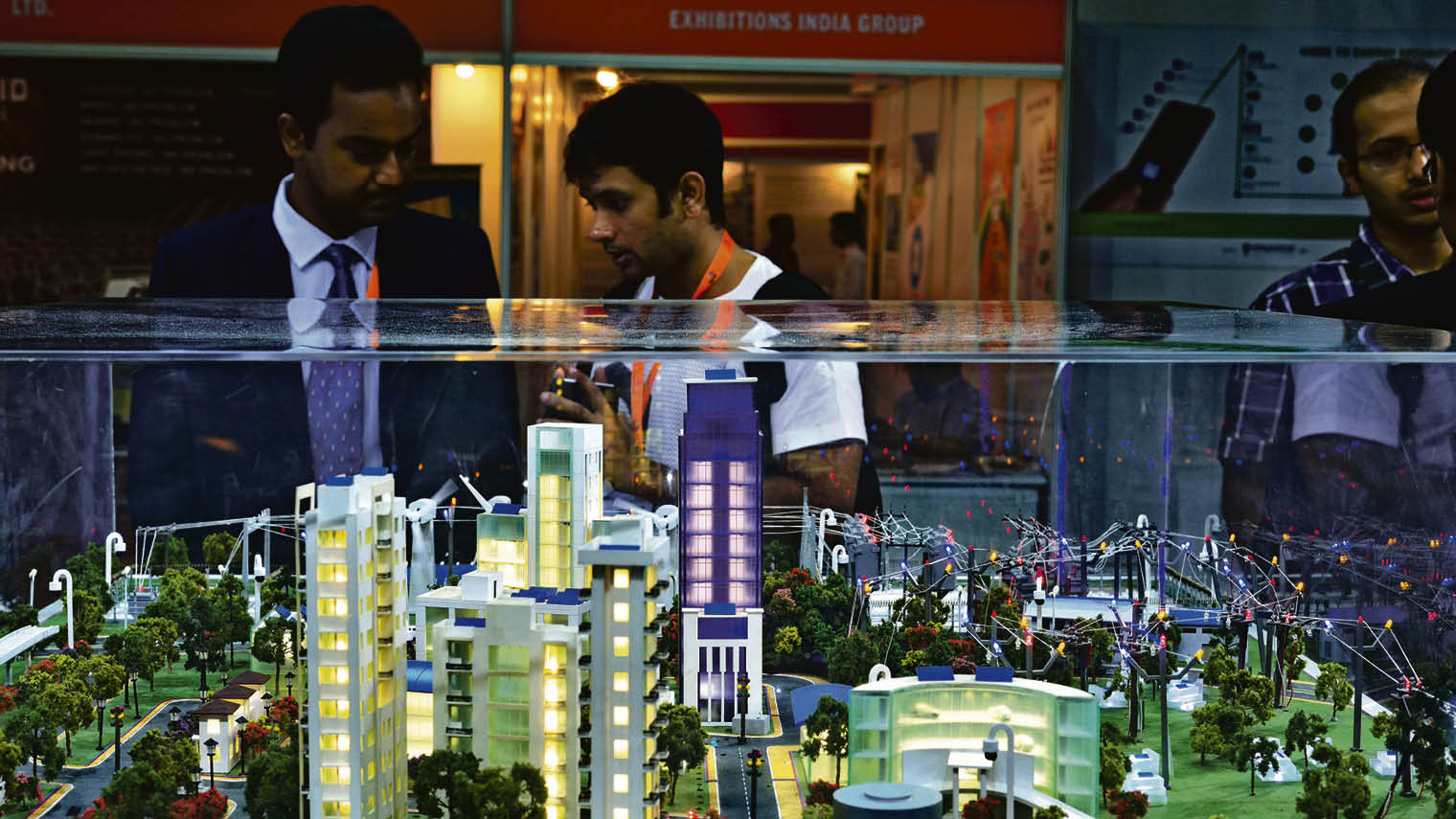 Proposals on display at the Smart Cities India 2015 Exhibition in New Delhi