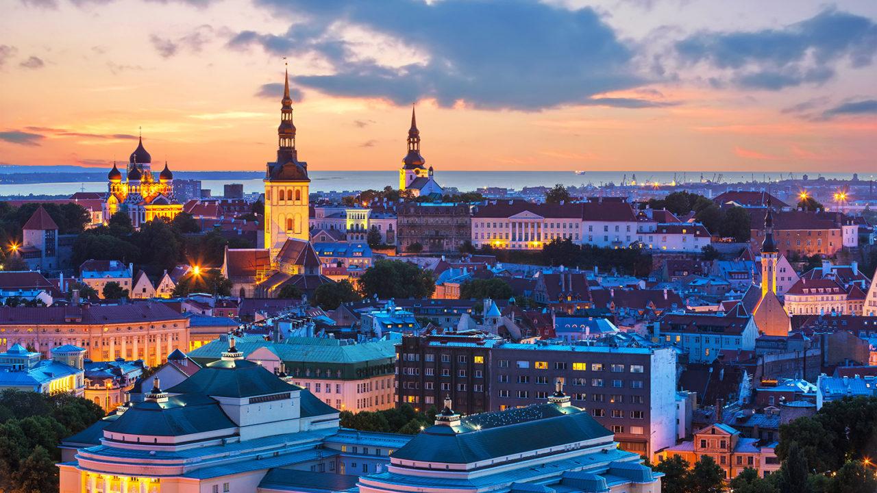 Skyline of Tallinn, Estonia