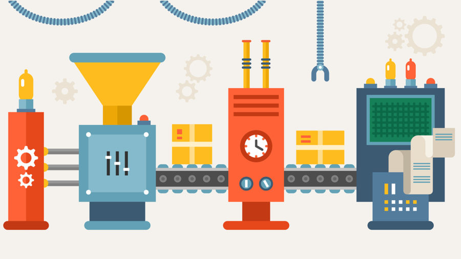 Production line illustration