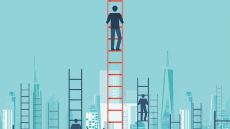 Climbing the career ladder illustration