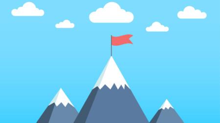 Illustration of mountain tops