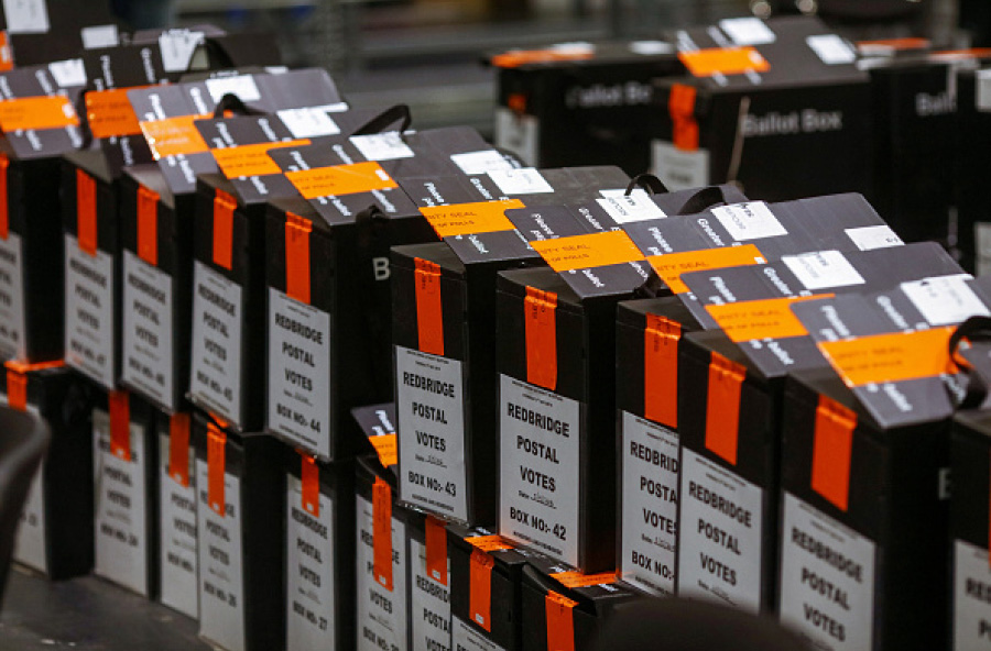 Ballot boxes in the UK