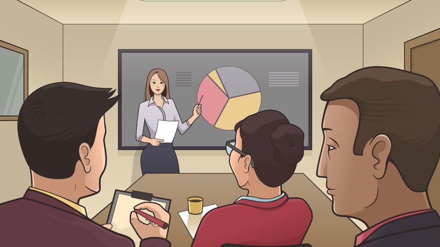 Boardroom illustration