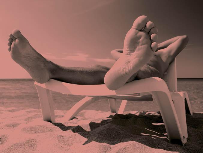 Man lying on the beach