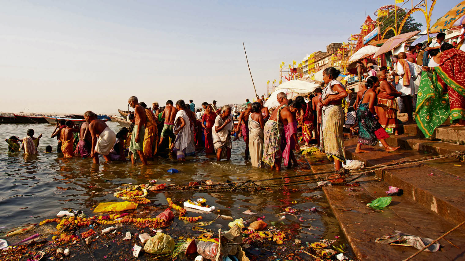 People washing in the River Ganges