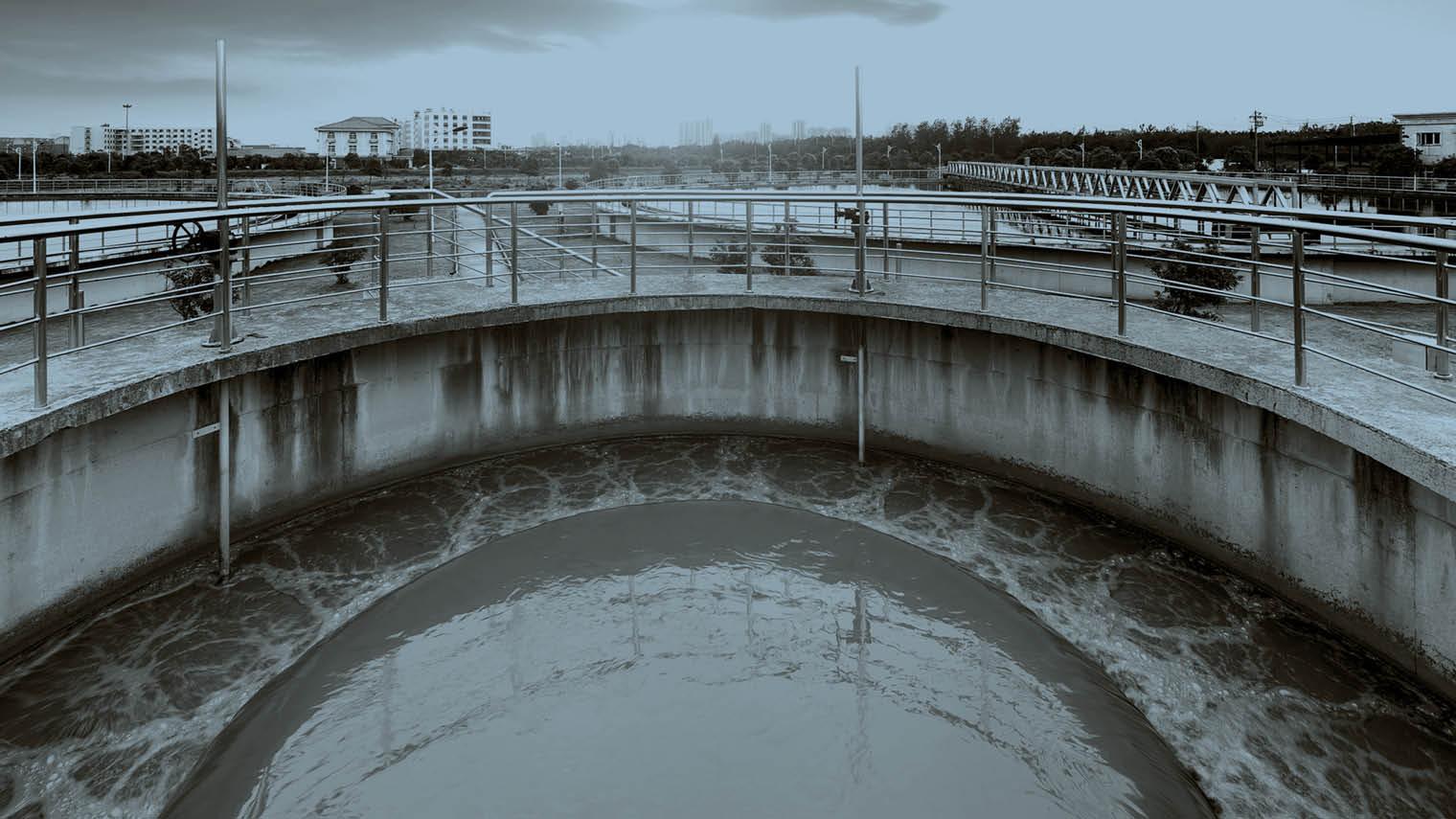 Sewage waste plant