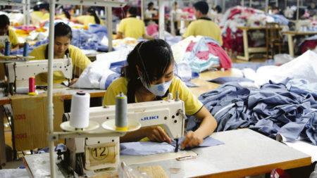 Asian textile factory
