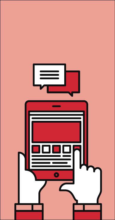 Social media conversations graphic