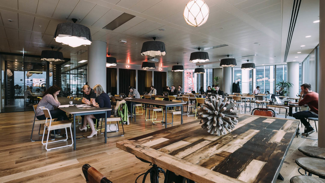 Co-working space provider WeWork is seeing an ever-increasing demand for less structured workspaces