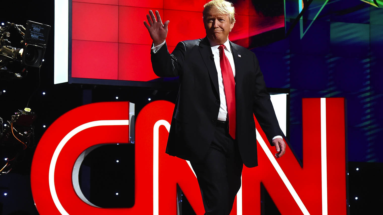 "Donald Trump has branded the CNN network as ""fake news"""