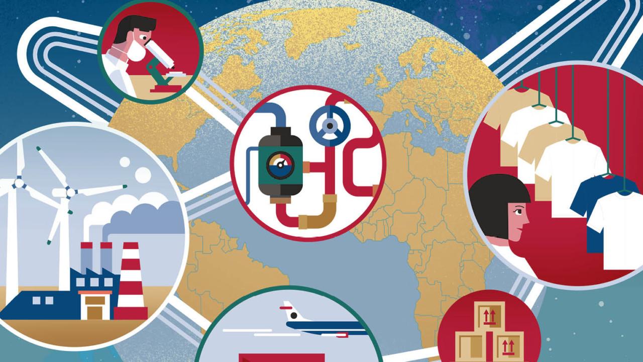 Supply chain strategies illustration