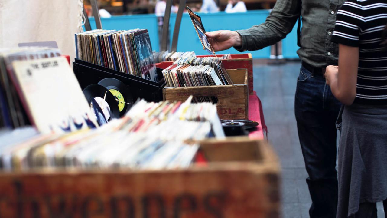 Vinyl record store