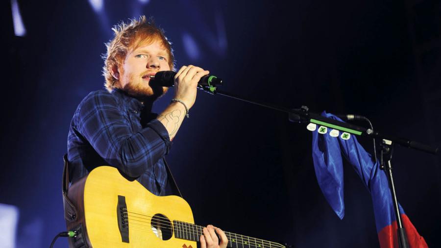 ed sheeran performing on stage