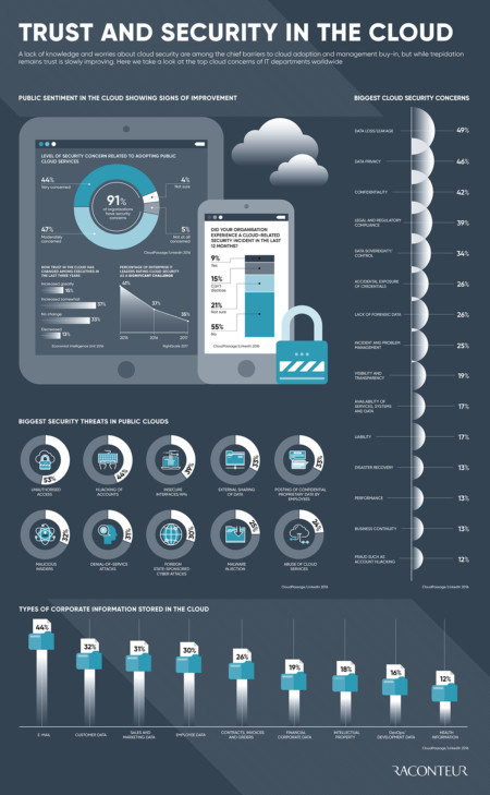 security and safety in the cloud infographic